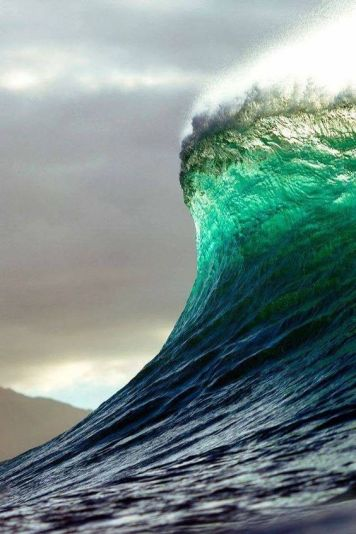 A wave about to break