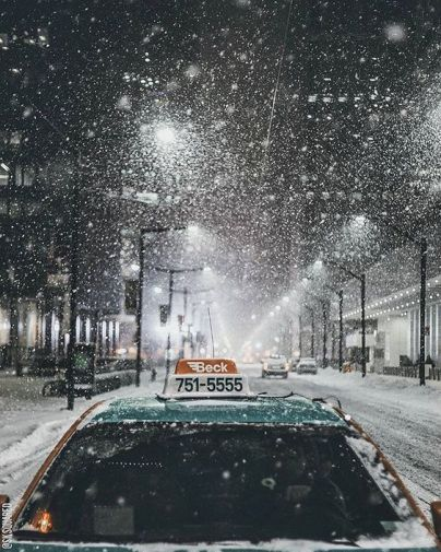Snowy Taxi
