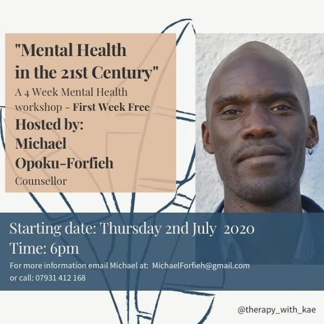 4 Week Workshop 21st Century Mental Health